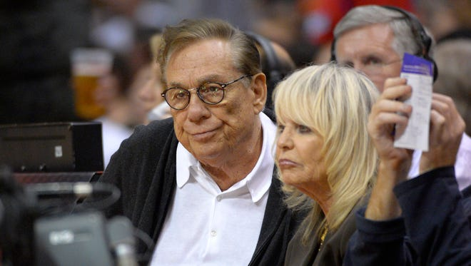 Los Angeles Clippers owners Donald Sterling and his wife Rochelle Stein.