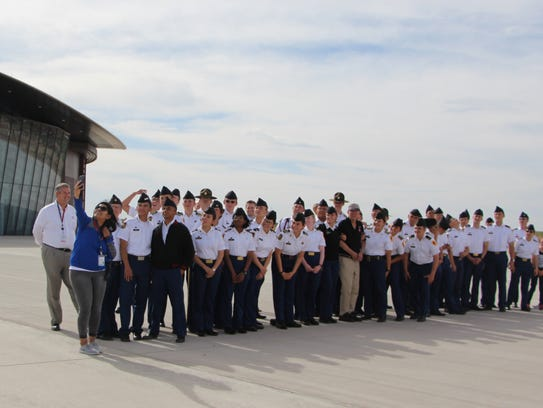A group from New Mexico Military Institute visit Spaceport