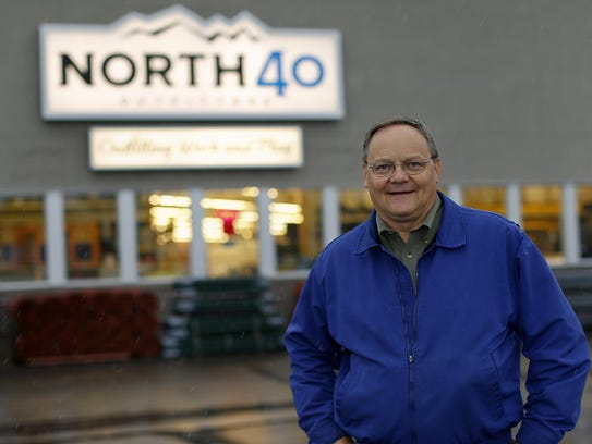 Wayne Wike, co-owner of North 40 Outfitters, says the