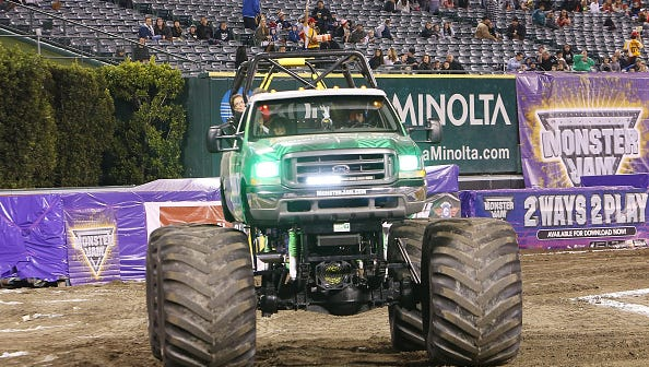 ANAHEIM, CA - JANUARY 16:  A general view of atmosphere at the 2016 Monster Jam held at Angel Stadium of Anaheim on January 16, 2016 in Anaheim, California.  (Photo by Michael Tran/FilmMagic)