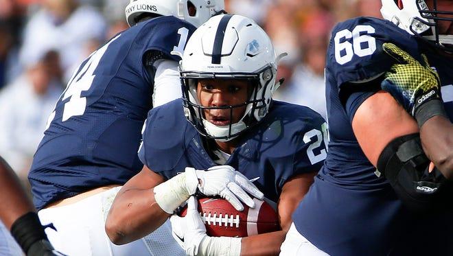 Penn State running back Saquon Barkley is coming off a 1,000-yard season as a freshman.