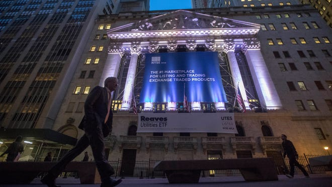 Outside the New York Stock Exchange.