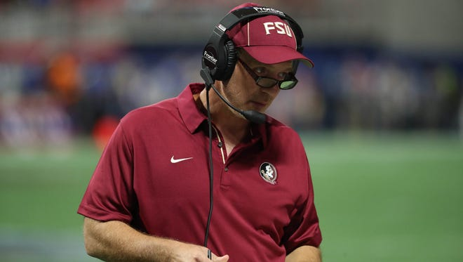 Florida State head coach Jimbo Fisher must deal with the ongoing uncertainty regarding the Seminoles' schedule.