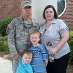 Mike, Connie and their sons, Zach and Ethan Thomas, are shown in a recent photo. Thomas is a local disabled combat veteran of both Iraq and Afghanistan who was just diagnosed with colon cancer.