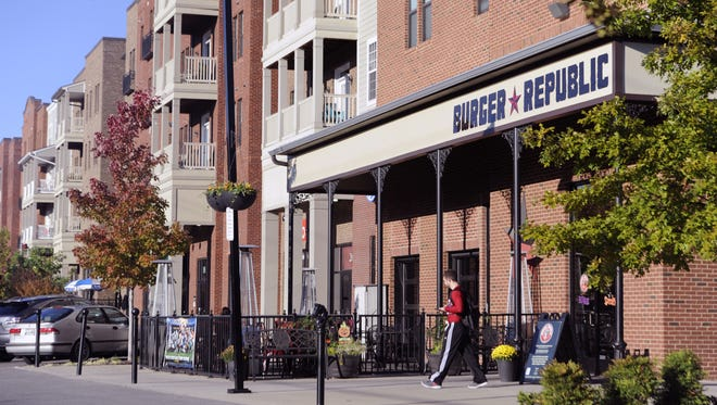Being able to walk to restaurants like Burger Republic in the town center is a big draw for residents of the Lenox Village development, one of Nashville's first master-planned, walkable developments.