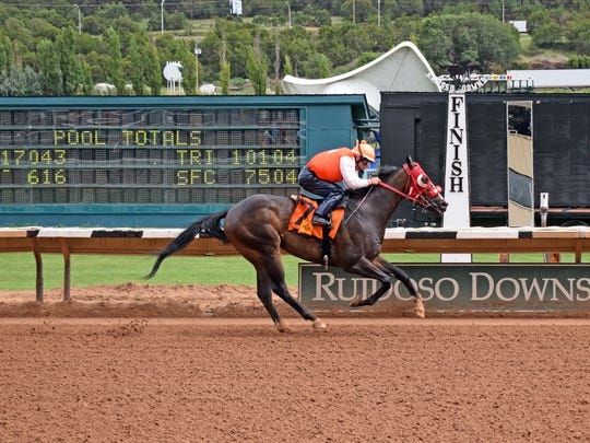 Mr. Mooch has been climbing up the class ladder at Ruidoso Downs this summer and reached the stakes ranks in the $50,000 Road Runner Handicap, his latest start.
