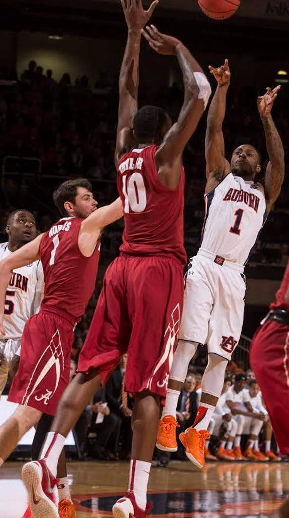 Auburn guard Kareem Canty had 25 points in a 83-77