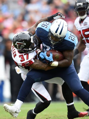 Titans running back Antonio Andrews is more of a power runner than a speedster.