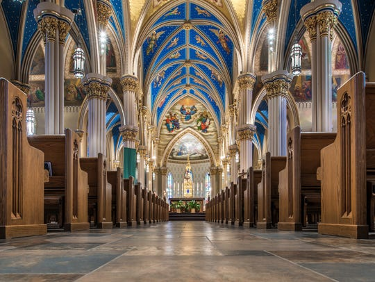 The Basilica of the Sacred Heart at Notre Dame is the