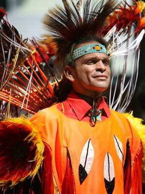 John Laughing Wolf Moore of Delmar, is pictured at the 35th annual Nanticoke Indian Pow Wow near Millsboro.