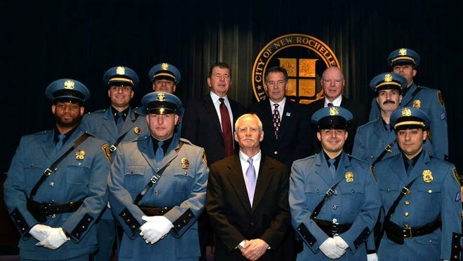 Nine members of the New Rochelle Police Department were promoted during a ceremony late last week.