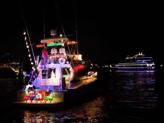 The 28th annual Christmas Boat Parade returns to Naples Bay starting at 6:15 p.m. Saturday.
