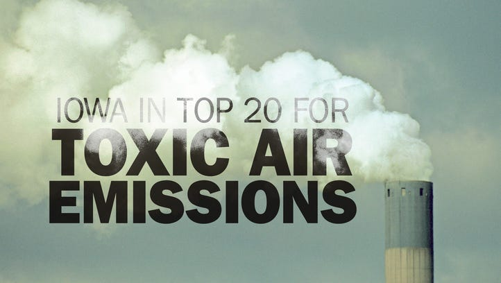 Iowa ranks in top 20 for toxic air releases