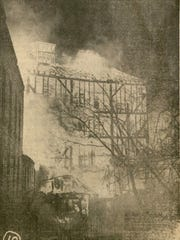 McCormick Mill fire, seconds before it collapsed.