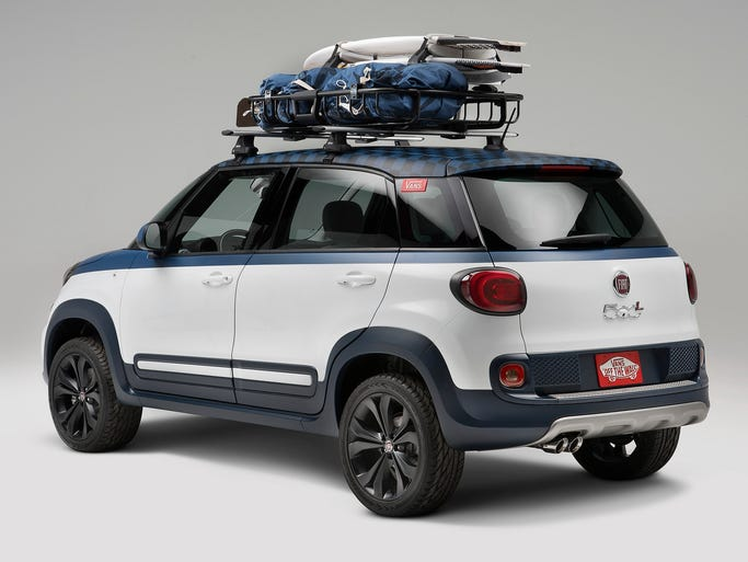 Fiat created a concept vehicle for Vans, adding touches to 500L aimed both a surfers and for fanciers of its high-top canvas shoes