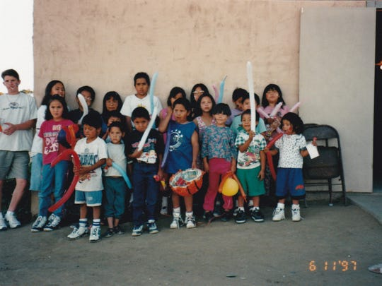 A Christ for all Nations vacation bible school group in 1997.