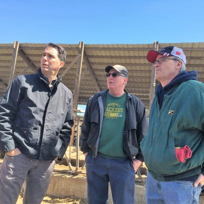 Governor Scott Walker, FSA director tour Wisconsin farms hit by blizzard damage