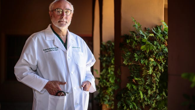Dr. Frank Ercoli in July 2016 at Desert Regional Medical Center in Palm Springs. He died Tuesday at age 67.
