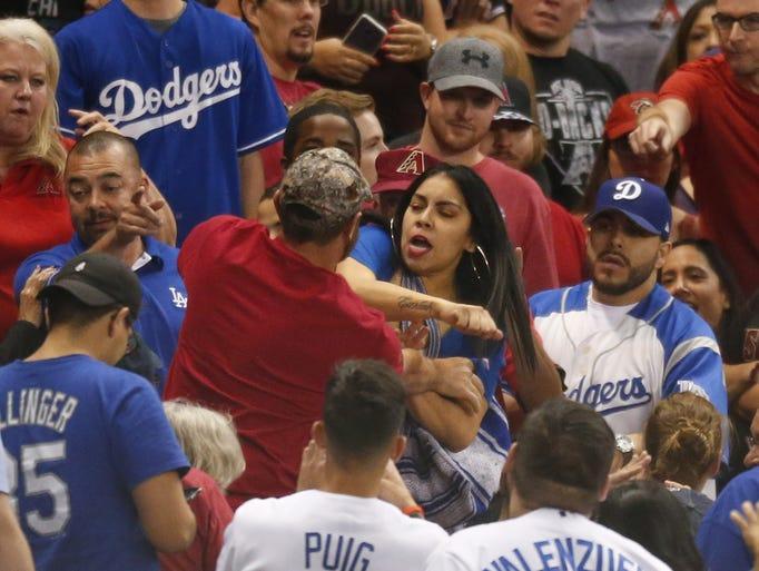 Arizona Diamondbacks and Los Angeles Dodgers fans get