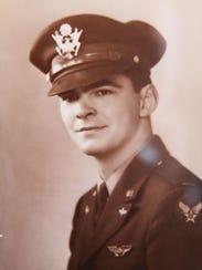 Carl Krecklow pictured as a young World War II pilot.