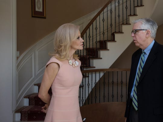Kellyanne Conway talks with Record columnist Mike Kelly
