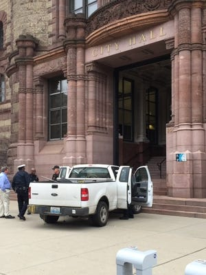 William Jackson's truck was impounded after Thursday morning's incident on Plum Street Thursday morning.