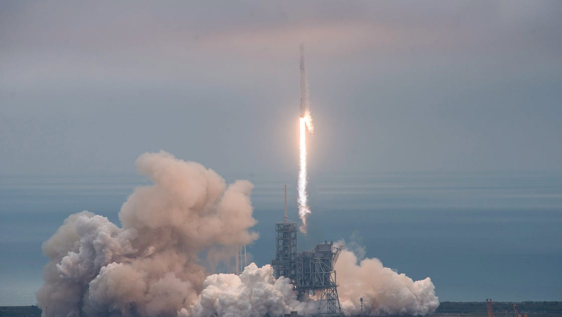 SpaceX launches rocket from historic NASA launchpad