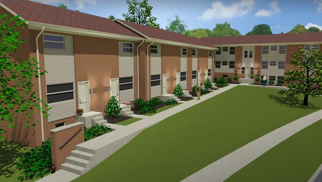 A rendering of the new Annex Student Living property in Battle Creek. The project is expected to be completed by the fall to accommodate Kellogg Community College students.