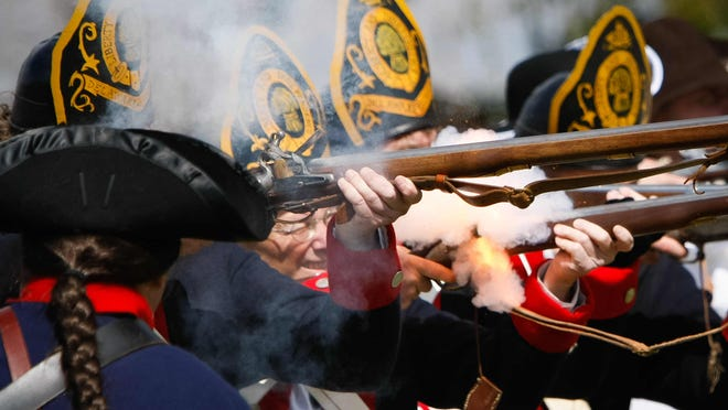 Greg Fullhart and other members of the 1st Delaware Regiment will add their fire power to the Sandy Hollow fight in the Battle of Brandywine re-enactment.