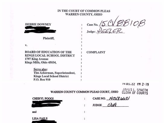 These are screenshots of the two lawsuits filed after