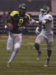 Northern Arizona receiver Emmanuel Butler caught six