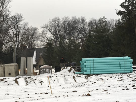 Construction begins on a four-story, 188-bed Holiday Inn Express at the corner of Hebron and Coffman roads in Heath.