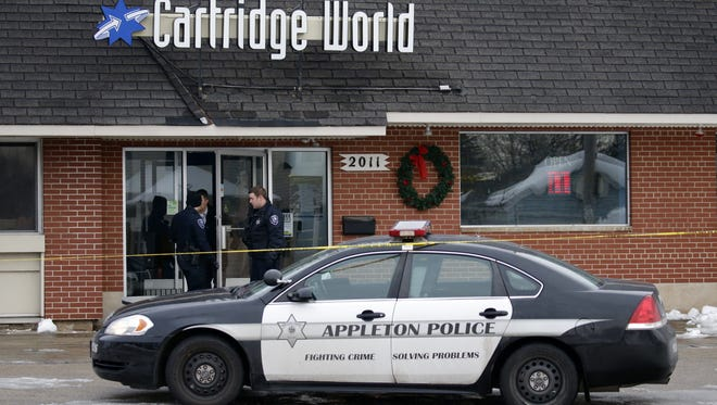 An armed robbery was reported a little before 2:30 p.m. Thursday at Cartridge World on North Richmond Street in Appleton.
