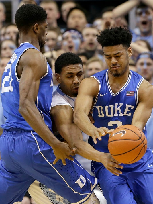 Quinn Cook, Amile Jefferson, Joel Berry II