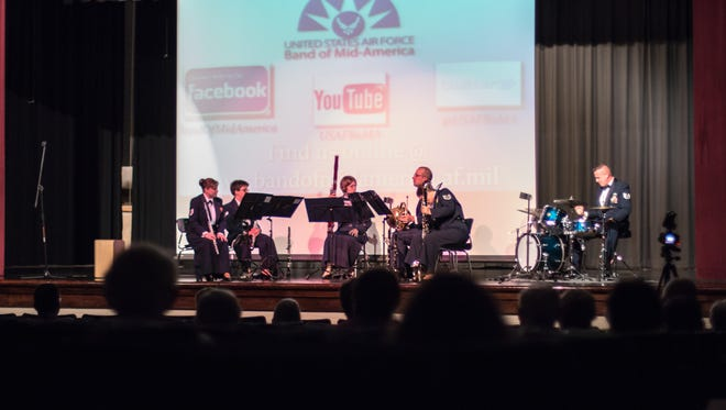 Freedom Winds performs in concert Monday night at Liberty Technology Magnet High School.