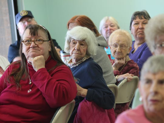 Residents of Edgewater Manor met with staff from Candlewood Property Management on Wednesday afternoon to discuss what everyone can expect following the city's decision to fund repairs to the affordable senior housing facility.