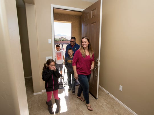 Marine Sgt. Patrick Martinez and his family received a Tucson home through the Homes on the Homefront program last year.