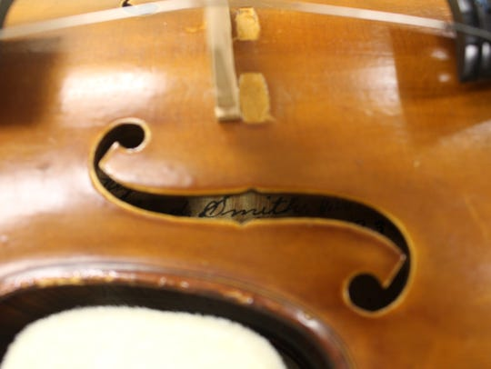 Each of Alfred Ferdinand Smith's violins have his name