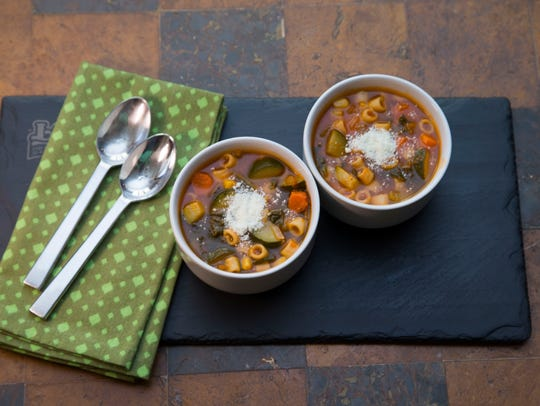 Vegetarian vegetable soup from Phoenix celebrity chef