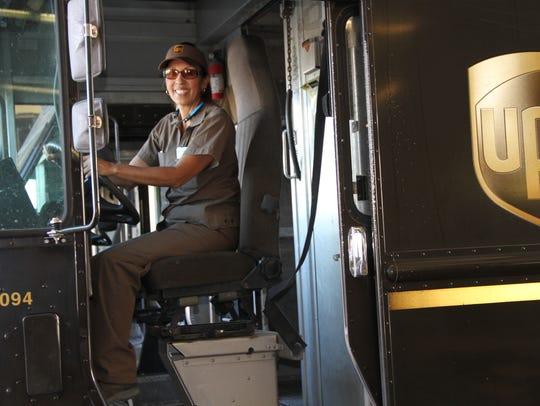 "UPS driver Beatrice ""Bea"" Sturtz will take to the Alamogordo"