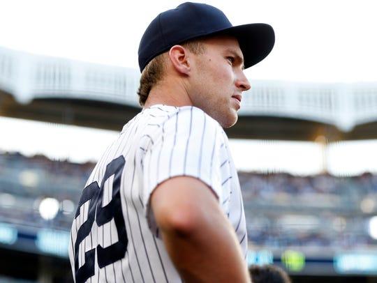 Jun 29, 2018; Bronx, NY, USA; New York Yankees third