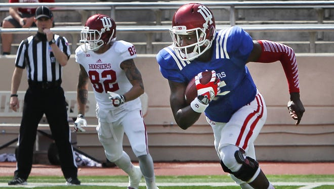 Tre Roberson, shown here playing in IU's spring game earlier this year, made the FCS playoffs with Illinois State.