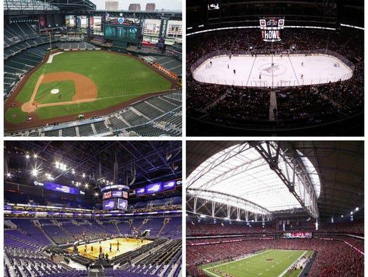 Three Phoenix-area professional sports teams — the