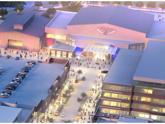A rendering of part of the proposed $150 million mixed