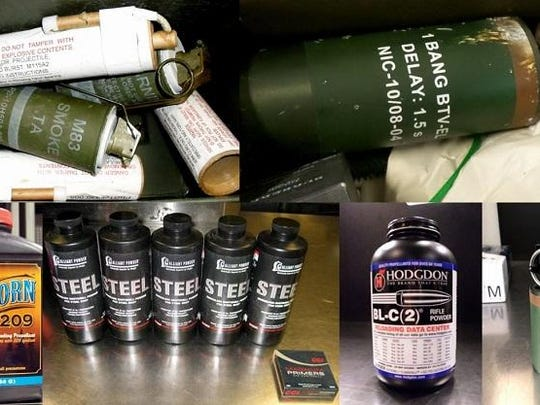 A number of unusual and dangerous items were also discovered at TSA checkpoints, including grenades and other explosives.
