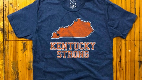 """Shop Local Kentucky is donating the profits from a """"Kentucky Strong"""" T-shirt ($25) to the victims of the Marshal County High School shooting."""