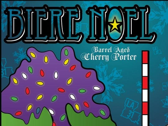 Our Biere Noel Christmas porter is a robust chocolate porter that is then aged on cherries in bourbon barrels.