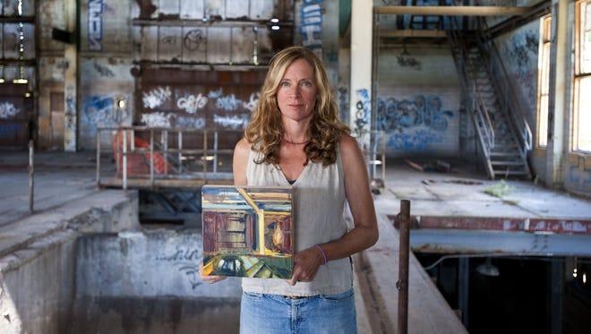 Burlington artist Katharine Montstream, shown in 2013.