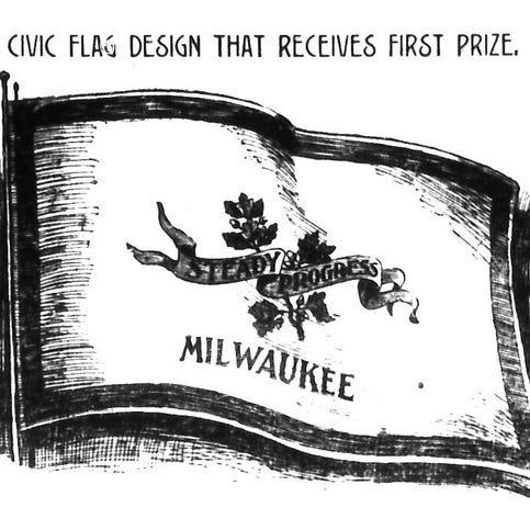 Milwaukee Journal held a design contest for a new city flag — in 1897