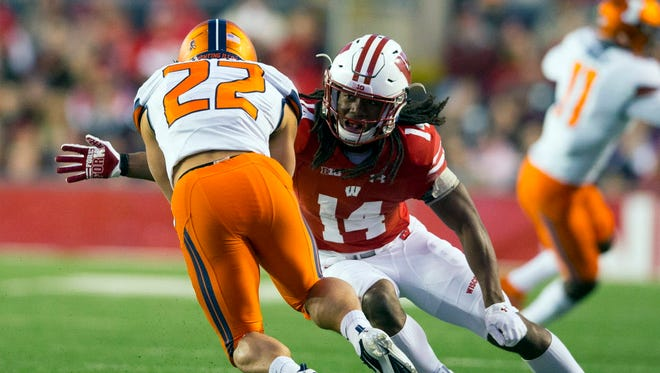 UW safety D'Cota Dixon will try to contain a young Illinois offense on Saturday.